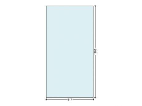 Polycarbonaat 617 x 1208 mm, 4 mm dikte