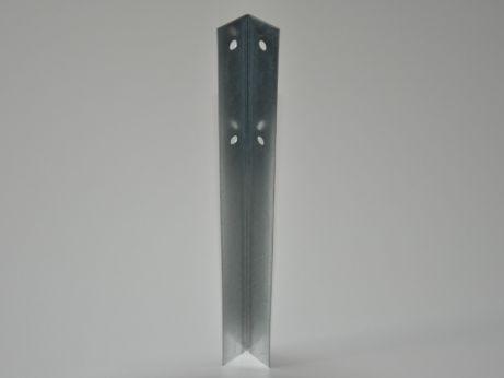 Hoeklijn 30 x 30 x 345 mm, blank staal